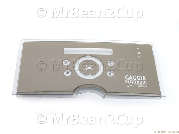 Picture of Gaggia Platinum Swing Up Silver Display  Front Plate G0053/C Assy