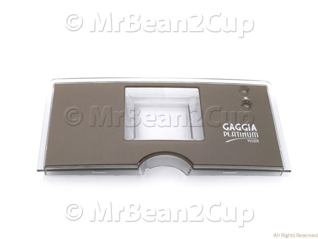Picture of Gaggia Platinum Vision Silver Front Plate Display G0053/D Assy