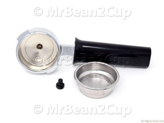 Picture of Gaggia Chromed/Black Filterholder with 2 Cup Pressurized Basket