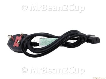 Picture of Gaggia Saeco General Black UK Power Cable 1.2m