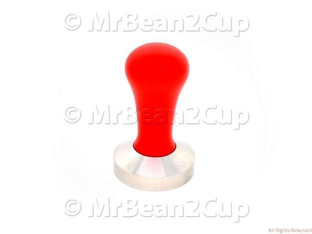 Picture of Stainless Steel Tamper Base with Red Wooden Handle (complete) 58mm