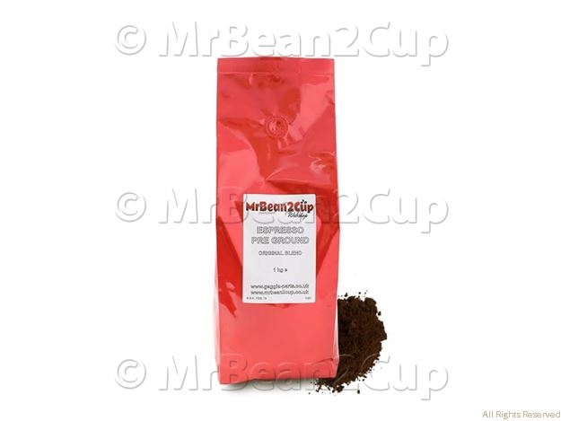 Picture of Mr Bean2Cup Coffee - Pre Ground Espresso Beans - 1kg
