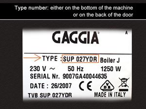 Gaggia Type number 1