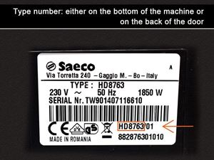 Saeco type number 1
