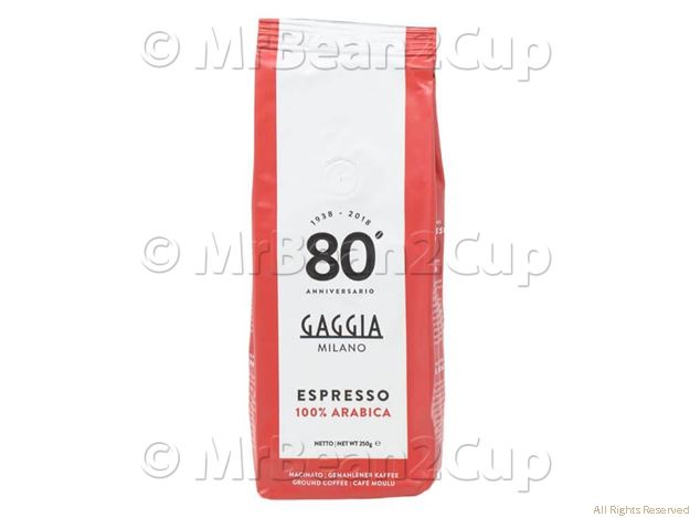 Picture of Gaggia 100% Arabica Pre Ground Coffee Beans 250g Bag NEW BLEND