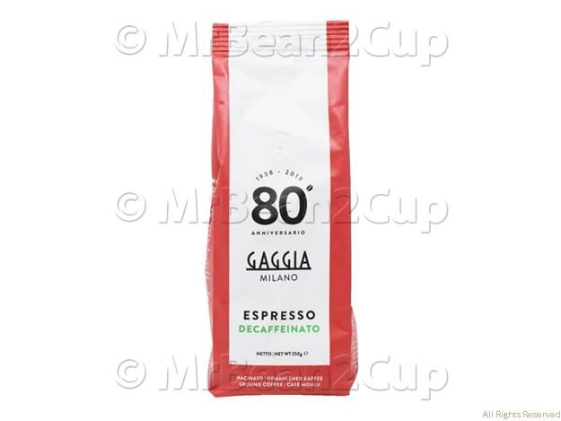 Picture of Gaggia Decaffienated Ground Coffee Beans 250g Bag NEW BLEND