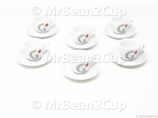 Picture of Gaggia Espresso Cup and Saucer Set of 6