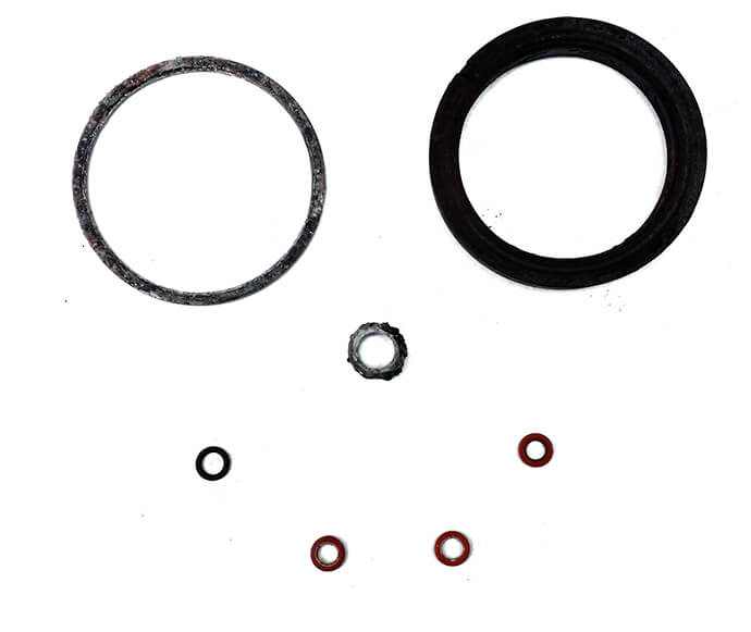 Used gaskets worn parts
